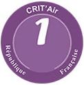 Vignette violette Crit'Air Voiture
